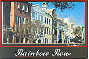 Charleston,SC, Rainbow Row Postcard (Image1)