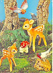 Walt Disney Bambi Postcard West Germany (Image1)
