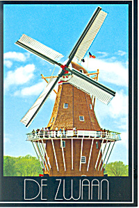 Holland, MI The Swan Windmill Postcard (Image1)