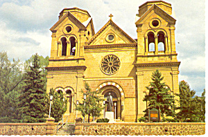 Santa Fe NM  Francis of Assisi Cathedral Postcard cs0873 (Image1)