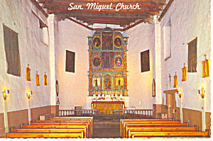 Santa Fe, NM, Oldest Church in USA Interior Postcard (Image1)