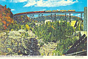 Passenger Train Agawa Canyon Ontario Postcard cs0875 (Image1)