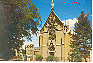 Santa Fe NM  Loretto Chapel Postcard cs0898 (Image1)