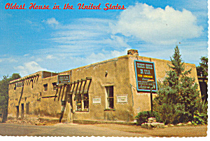 Santa Fe, Nm, Oldest House In Usa Postcard