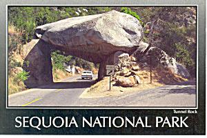 Sequoia National Park CA Tunnel Rock Postcard cs0909 (Image1)