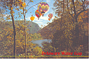 Hot Air Ballooning over Delaware Water Gap Postcard (Image1)