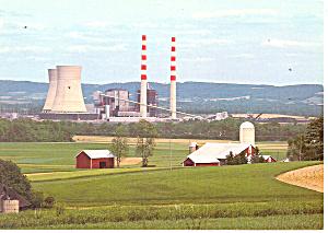 Power Plant Washingtonville PA Postcard cs0942 (Image1)