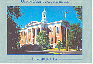 Courthouse Lewisburg PA Postcard cs0943 (Image1)