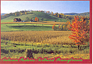 Autumn Pastures, Northeast PA Postcard (Image1)
