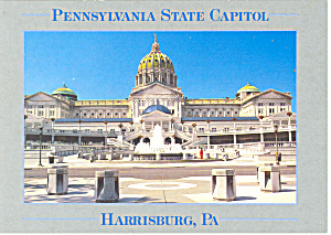 Harrisburg, PA State Capitol Postcard (Image1)