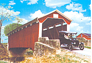 Sam Wagner Covered Bridge, Pottsgrove,PA Postcard (Image1)