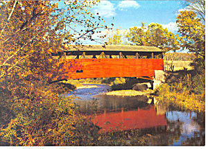 Lairdsville Covered Bridge, Lairdsville,PA Postcard (Image1)