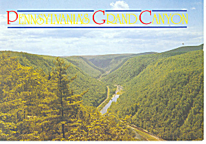 Pennsylvania Grand Canyon Postcard cs0989 (Image1)