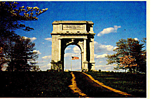 Valley Forge,PA National Memorial Arch Postcard (Image1)