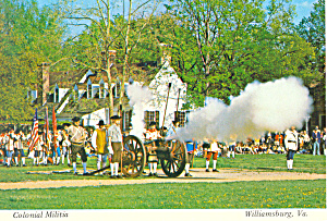 Williamsburg,VA, Colonial Militia Postcard (Image1)