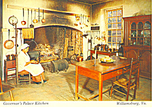 Williamsburg,VA, Palace Kitchen Postcard (Image1)