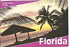 Florida Beach Scene Palms Cs10004