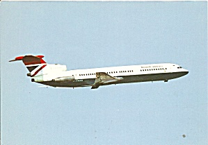 British  Airways  Hawker Sidelley Trident 3 Postcard cs10029 (Image1)