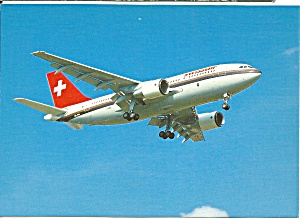 Swissair Airbus A 310 Postcard cs10039 (Image1)