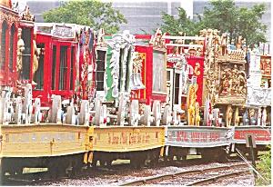 Great Circus Train Baraboo WI Postcard cs1003 (Image1)