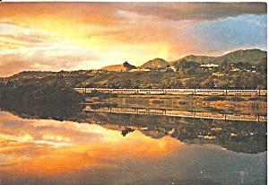 Sunset Santa Baarbara Bird Refuge AMTRAK Postcard cs10054 (Image1)