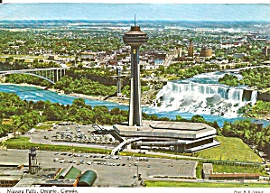 Niagara Falls Skylon Tower In Foreground Postcard Cs10059