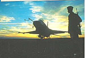 F 16 At Sunset With Military Police Cs10071