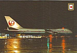Japan Airlines 747 at Gate Postcard cs10080 (Image1)