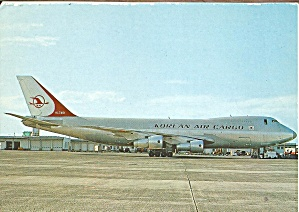 Korean Air Cargo 747-2b5f Postcard Cs10084
