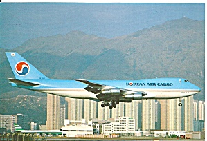 Korean Air Cargo 747-2B5F HL-7441 Postcard cs10085 (Image1)