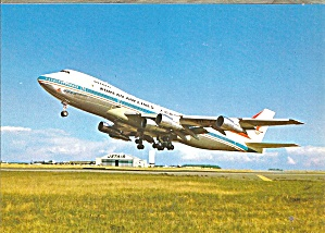 Korean Air 747-200B 5th Engine Postcard cs10088 (Image1)