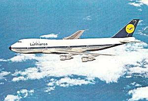 Lufthansa 747 in Flight Postcard cs10091 (Image1)