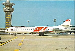 Europe Air Service Caravelle 10B at Paris Orly Postcard cs10101 (Image1)