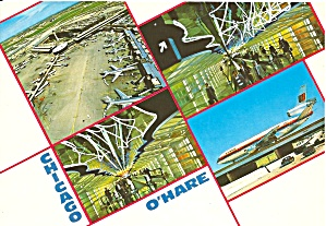 Chicago IL O Hare Airport Postcard cs10105 (Image1)