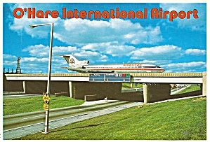 Chicago Il O Hare Airport 727 On Overpass Cs10107