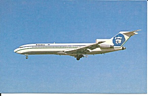 Alaska Airline 727-227 N308as Postcard Cs10121