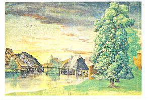 Albrecht Durer Le Moulin au saule Postcard (Image1)