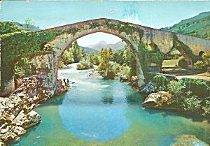 Roman Bridge in Cangas de Onís Asturias Spain cs10150 (Image1)