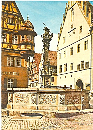 Rothenburg Ob der Tauber Germany St Georg s Fountain cs10230 (Image1)