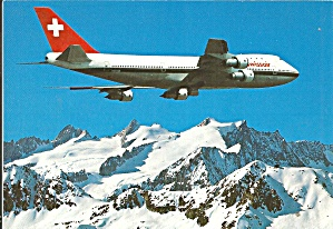 Swissair 747-257B over Swiss Alps cs10273 (Image1)