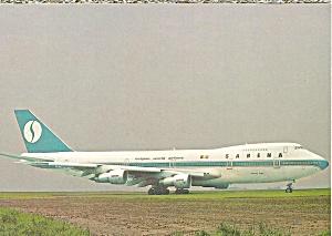 Sabena Belgian World Airways 747-129 postcard cs10357 (Image1)
