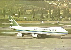 Saudia  747-2B5F SCD  HL-7452 postcard cs10361 (Image1)