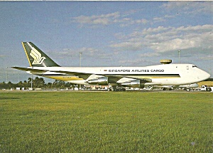 Singapore Airlines Cargo 747-212f 9v-skq Postcard Cs10366