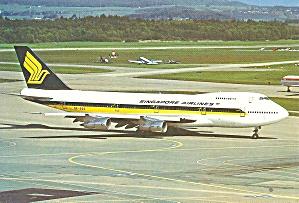 Singapore Airlines  747-212B  postcard cs10369 (Image1)