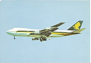 Singapore Airlines 747 on Final postcard cs10372 (Image1)