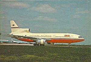 ALIA Royal Jordanian Airlines L-1011-500 postcard cs10374 (Image1)