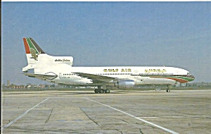 Gulf Air L-1011 A40-tw Postcard Cs10385