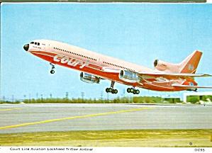 Court Line L-1011 TriStar G-BAAB postcard cs10412 (Image1)