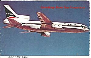 Delta Air Lines L-1011 TriStar N1010A postcard cs10415 (Image1)