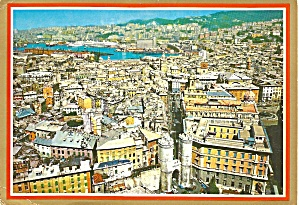 Genoa Genova Italy Panorama at Port postcard cs10416 (Image1)